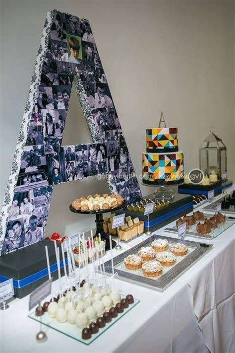 birthday blue black  silver party adult party