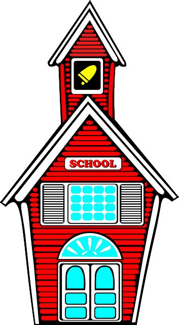 school pictures clip free vector graphic school building architecture