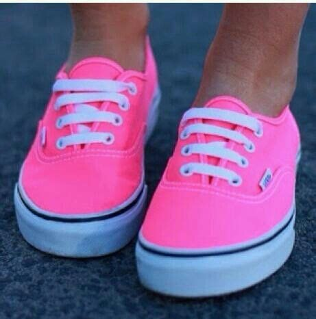 You Want Pink Well Heres Pink by Neon Pink Vans Clothes Well Everything