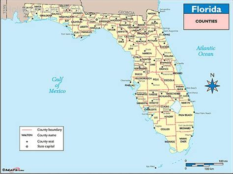 map of florida with counties map of florida counties map travel