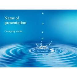 clear water powerpoint template background for presentation