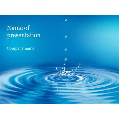 water template clear water powerpoint template background for presentation