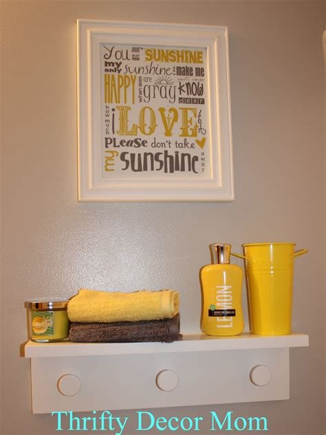 Yellow and gray bathroom viewing gallery
