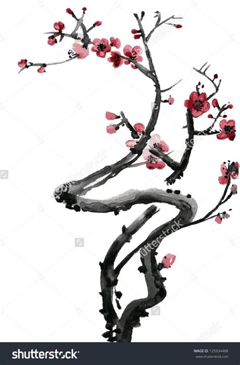 japanese ink drawing blossom google zoeken sakura pinterest search drawings and blossoms