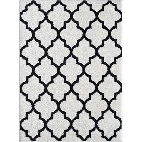 White And Black Area Rugs Burgaban White Black Area Rug Wayfair