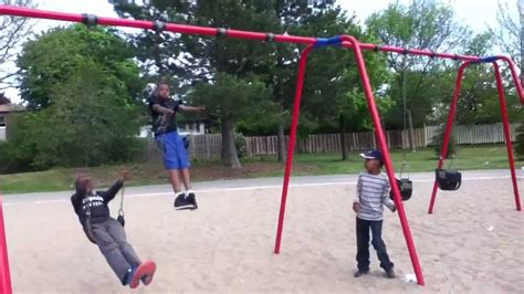 how to do a backflip off a swing me doing a back flip off a swing set youtube