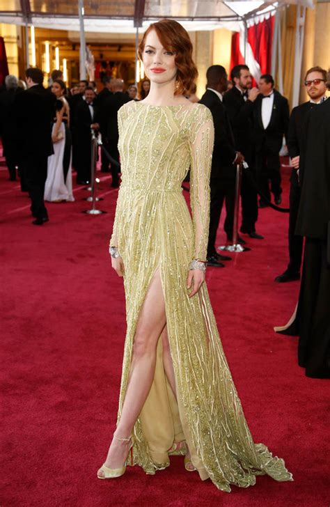 emma stone red carpet dresses emma stone is duana s best dressed at oscars 2015 lainey