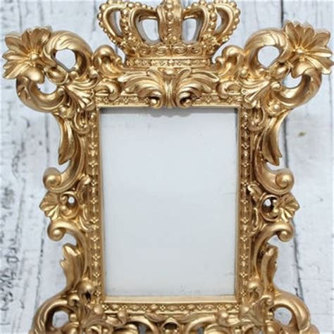 Unique Frames And Decor by Gold Crown Frame Ornate Picture From The Noteworthy Nest