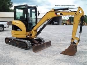2008 caterpillar 303ccr mini excavator loader backhoe