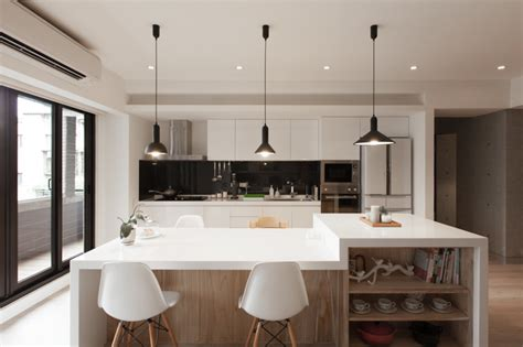 Pendant Lights Kitchen Over Island by Huge Modern Kitchen Interior Design Ideas