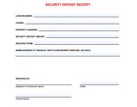 Receipt Of Deposit Template 5 Free Security Deposit Receipt Templates Word Excel