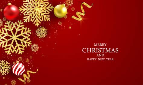 merry christmas  happy  year greeting card premium vector