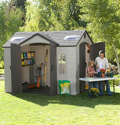 lifetime brighton 8 x 10 side entry shed a garden