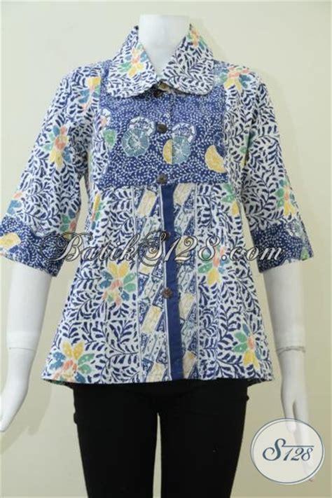 Blus Batik Kantor Cap Furing 2 jual baju batik untuk perempuan muda aktif kreatif blus