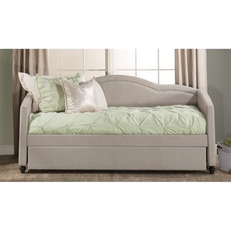 upholstered day bed hillsdale jasmine upholstered daybed with trundle in dove