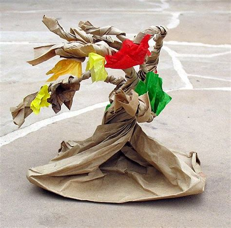 Paper Lunch Bag Crafts - paper bag wreaths grab a brown paper lunch bag and some