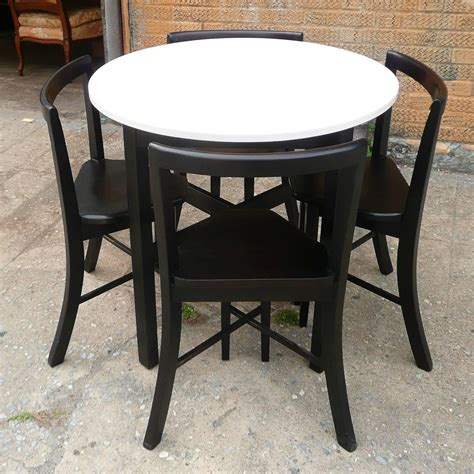 Compact Dining Table Set Small Contoured Dining Set At 1stdibs