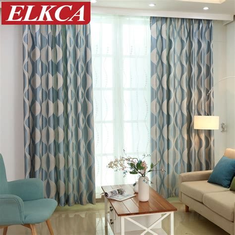 blue modern curtains blue wave simple modern curtains for living room window