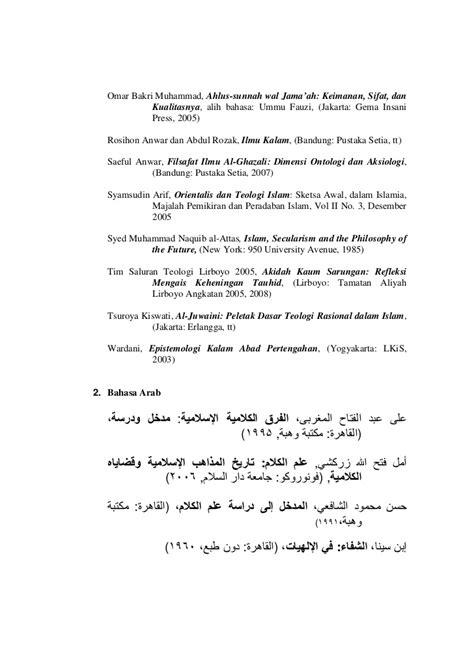 Filsafat Ilmu Al Ghazali Pustaka Setia bangunan epistemologi ilmu kalam