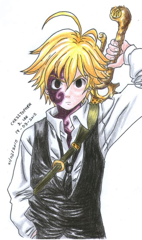 nanatsu no taizai meliodas demon form by christopherdonlee