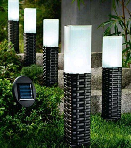 solar powered backyard lights 4 pack rattan solar led light woven outdoor garden