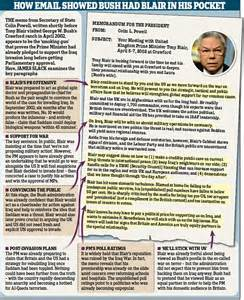 19 october 2015 news archive daily mail online the email that proves bush had blair in his pocket memo