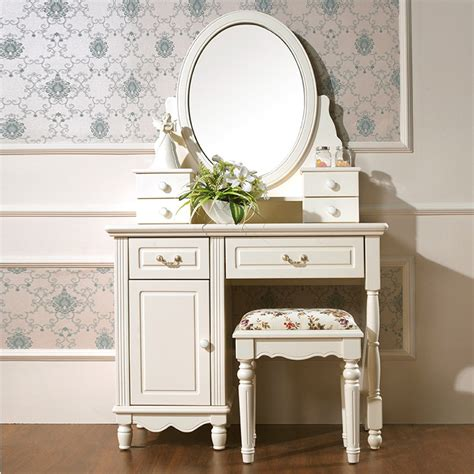 oak bedroom vanity korean style dressing table pastoral dresser solid wood