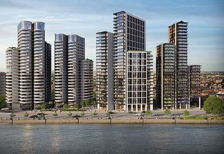 the corniche the corniche new apartments in albert embankment st