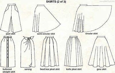 pattern and its types different skirt styles chart ebay pattern cutting and