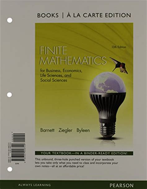 finite mathematics for business economics sciences and social sciences 14th edition books finite mathematics for business economics sciences