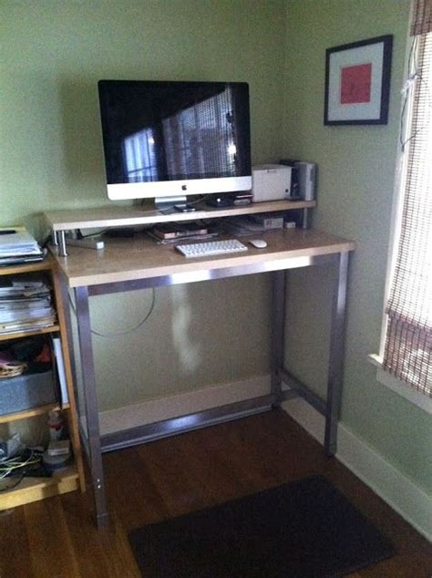 Ikea Standing Desk Legs Ikea Hackers Standing Desk With Utby Legs My Style Pinboard Pinterest The O Jays Desks