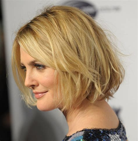 Drew Barrymoores Hair by Hairstyles Popular 2012 Wavy Bob Hairstyle Pics