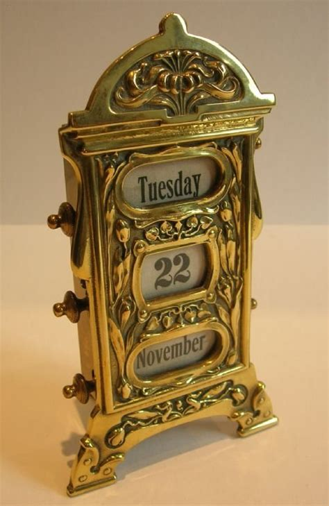 antique perpetual desk calendar antique english brass perpetual desk calendar art
