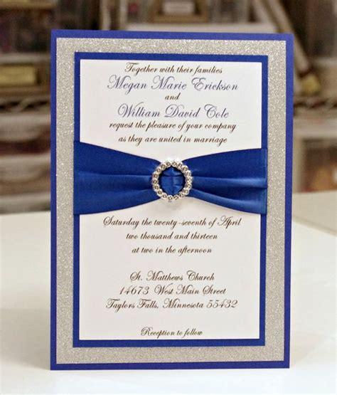 wedding invitations royal blue and silver stunning royal blue silver glitter wedding by