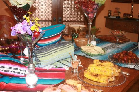 Seashore Home Decor table settings a fiesta party themed dinner kosher