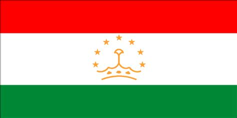 flags of the world red white green horizontal cia the world factbook 2002 flag of tajikistan