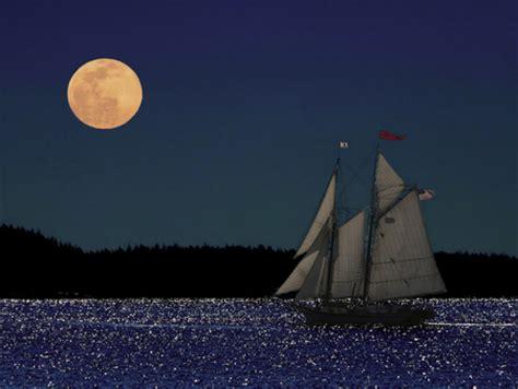 sailboat at night sailboat at night oceans nature background wallpapers