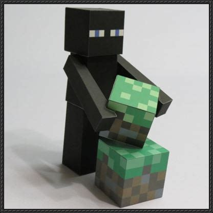 How To Make A Paper Enderman - new paper craft minecraft papercraft enderman free