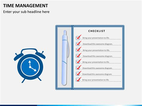 time management powerpoint template sketchbubble