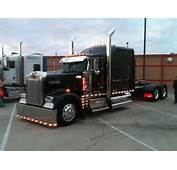 Black Kenworth W900  Cool Trucks Pinterest