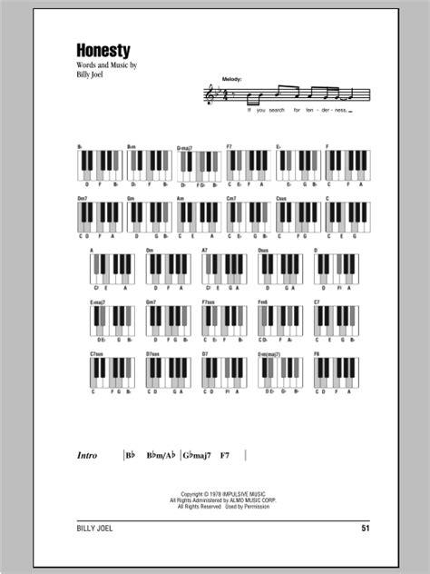 tutorial piano honesty billy joel honesty lyrics piano chords