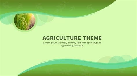 powerpoint themes agriculture agriculture powerpoint keynote background and theme