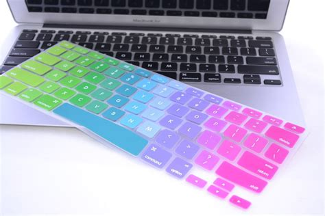colored key covers fashion colored rubber laptop keyboard covers for macbook