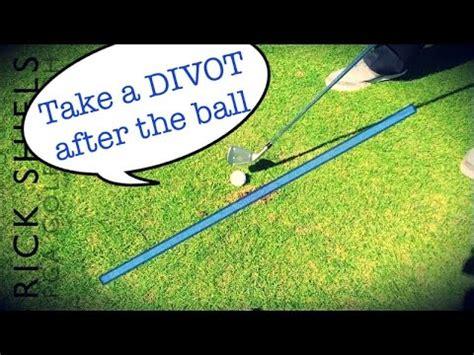 golf swing divot after ball take a divot after the golf ball xilfy com
