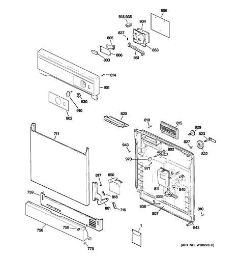 hotpoint dishwasher parts diagram hotpoint dishwasher parts model hda2100n00bb sears