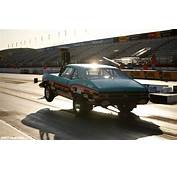 Classic Car Chevrolet Nova Wheelie Drag Race