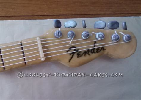 coolest fender electric guitar cake