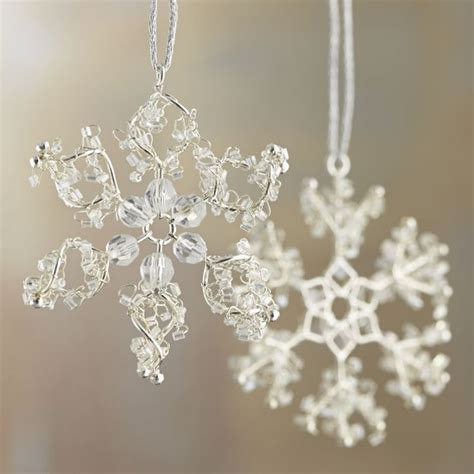 beaded snowflake ornaments 175 best ornaments images on