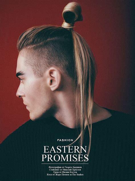 shaved sides ponytail hairstyles guy men s undercut ponytail hair pinterest that so