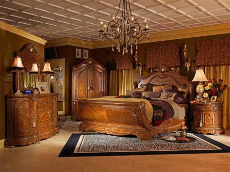 bedroom shop aico michael amini 4pc cortina king size sleigh bedroom